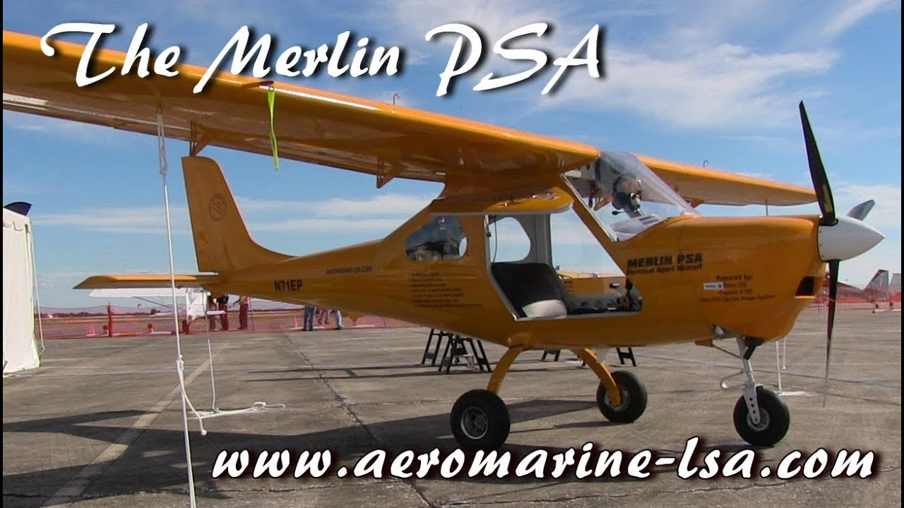 Merlin, AeroMarine Merlin PSA, Light Sport Aircraft, Sebring Sport Aviation  Expo 2019