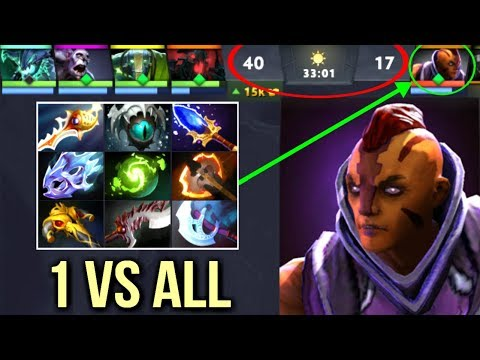 EPIC Pro 1 vs 5 Rapier Anti Mage vs Disable Team Never Give Up Crazy Gameplay WTF Dota 2