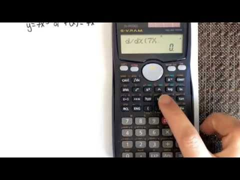 Determining The Derivative Of A Function Using A Calculator (CASIO Fx-991MS)
