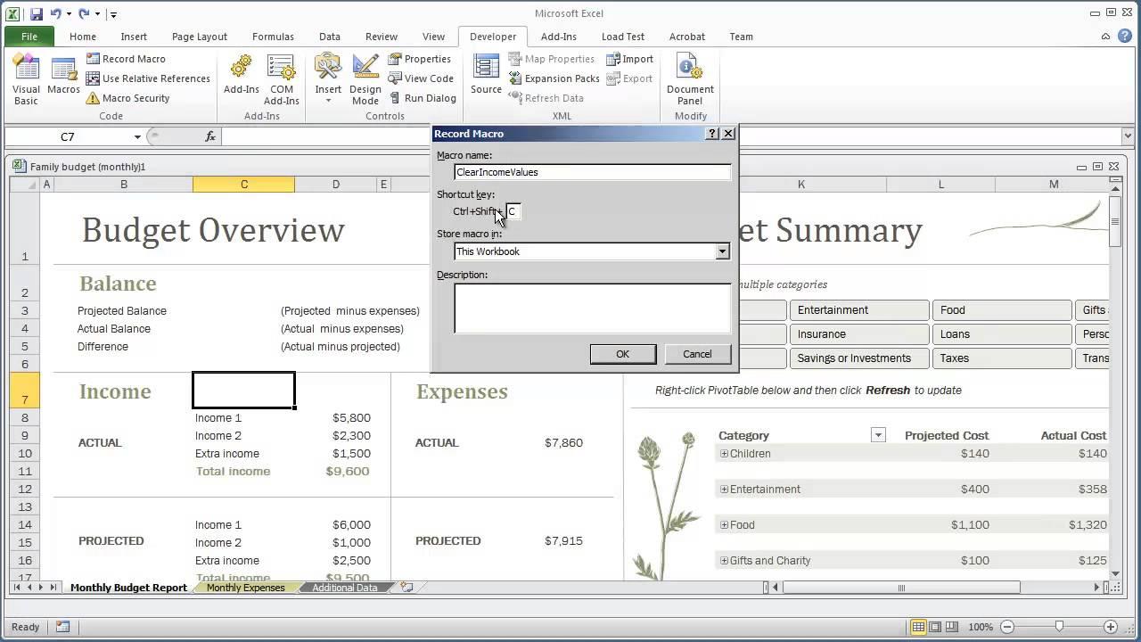vba programming for excel 2010 -- v1 03 - recording a macro -- free beginners tutorial
