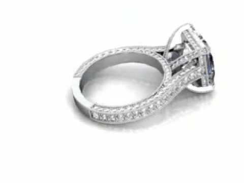 Dallas Princess Cut Vintage Engagement Ring