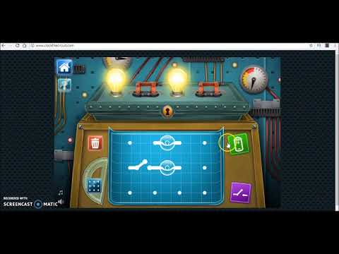 Electric circuits puzzle game - Crack the circuit - play and learn
