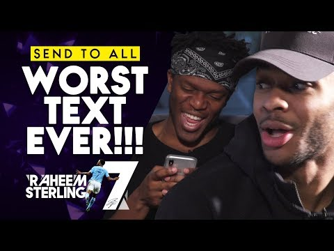 KSI SENT USAIN BOLT WHAT?! | Raheem Sterling's Worst Text Message Ever!