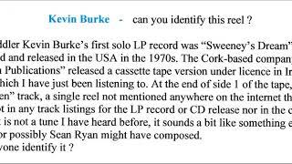 KEVIN BURKE : mystery reel from Sweeney's Dream cassette