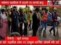 ADBHUT AAWAJ 18 01 2021 कलेक्टर एसडीएम ने सड़को पर लागई झाडू सफाई रथ को क...