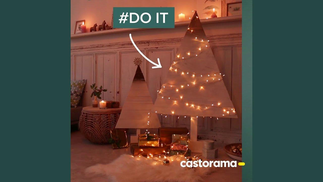 diy fabriquez un sapin de no l en bois castorama youtube. Black Bedroom Furniture Sets. Home Design Ideas