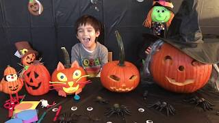 Evan and Pumpkin Carving for Halloween 2018 | Fun videos for kids | House of Toys