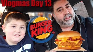 Burger King Cheesy Bacon Crispy Chicken Sandwich and Cini Minis Food Review!