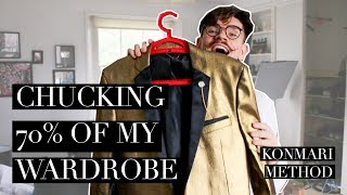 I NEEDED This! | My Huge Clothing Declutter | KonMari Method
