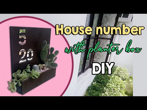 DIY House number with planter box l Easy DIY project for beginner