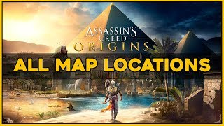 Assassin's Creed Origins - ALL MAP LOCATIONS (Old Habits Trophy)