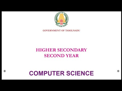 12th std New Computer Science book 2019-2020 | 12th New syllabus book,  Computer science book