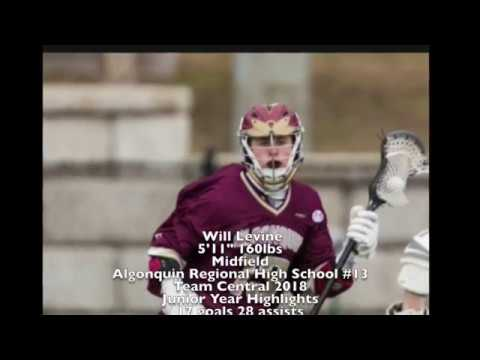 Will Levine (18') 2017 Lacrosse Spring Highlights