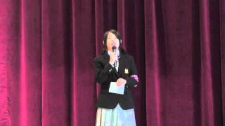 2011年10月15日(土)9時20分より、明誠高校体育館で行われた第1回入試説...