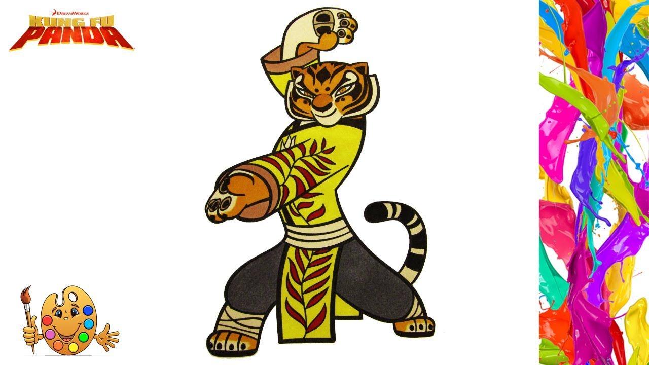 - Kung Fu Panda : Master Tigress Coloring Pages For Kids