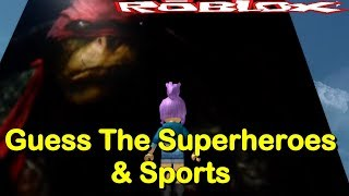 This Looks Like An Ape - Roblox Guess The Sports & Superheroes