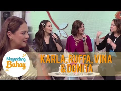How Ruffa, Vina, Donita and Karla started their friendship | Magandang Buhay