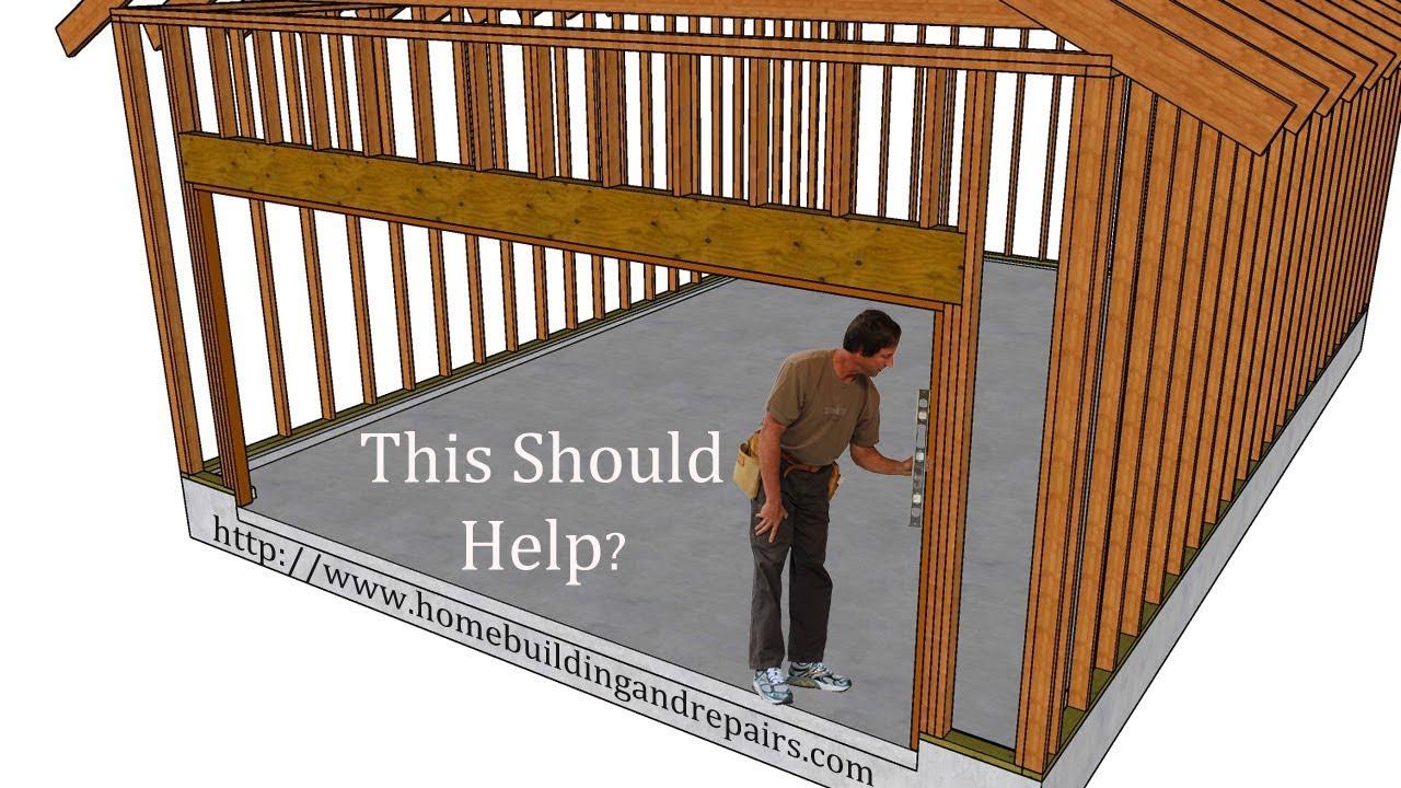 How to Frame Garage Door Opening for Most Roll up Doors