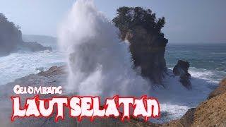 Detik detik Ombak Menyapu  Pesisir Pantai Selatan Jawa