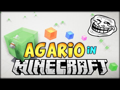 PLAYING AGARIO IN MINECRAFT AND TROLLING DRUNK FRIENDS (Agar.io Minigame Recreated in Minecraft)