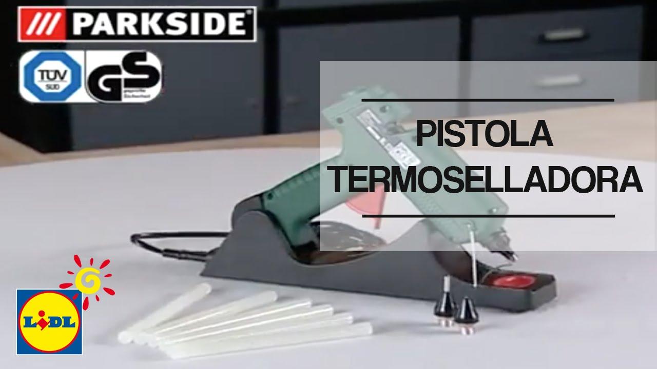 Pistola termoselladora lidl espa a youtube for Pistola sparapunti parkside