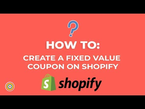 How to Create a fixed value coupon on Shopify - E-commerce Tutorials thumbnail