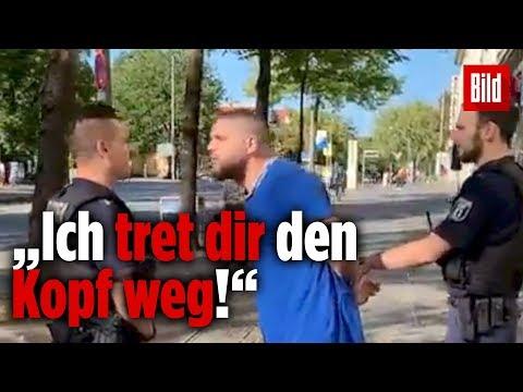 Fler beleidigt Berliner Polizisten aufs Übelste   Das Video
