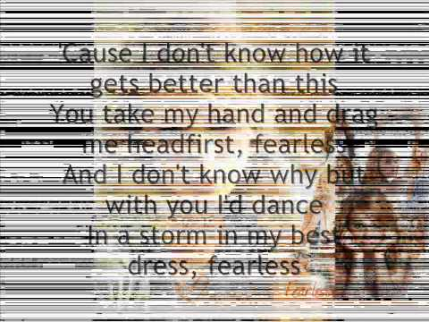 Fearless lyrics Taylor Swift!