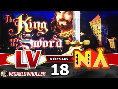 Las Vegas vs Native American Casinos Episode 18: King and the Sword Slot Machine - 동영상