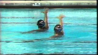 Synchronised swimming 1984 Los Angeles Ruiz & Costie