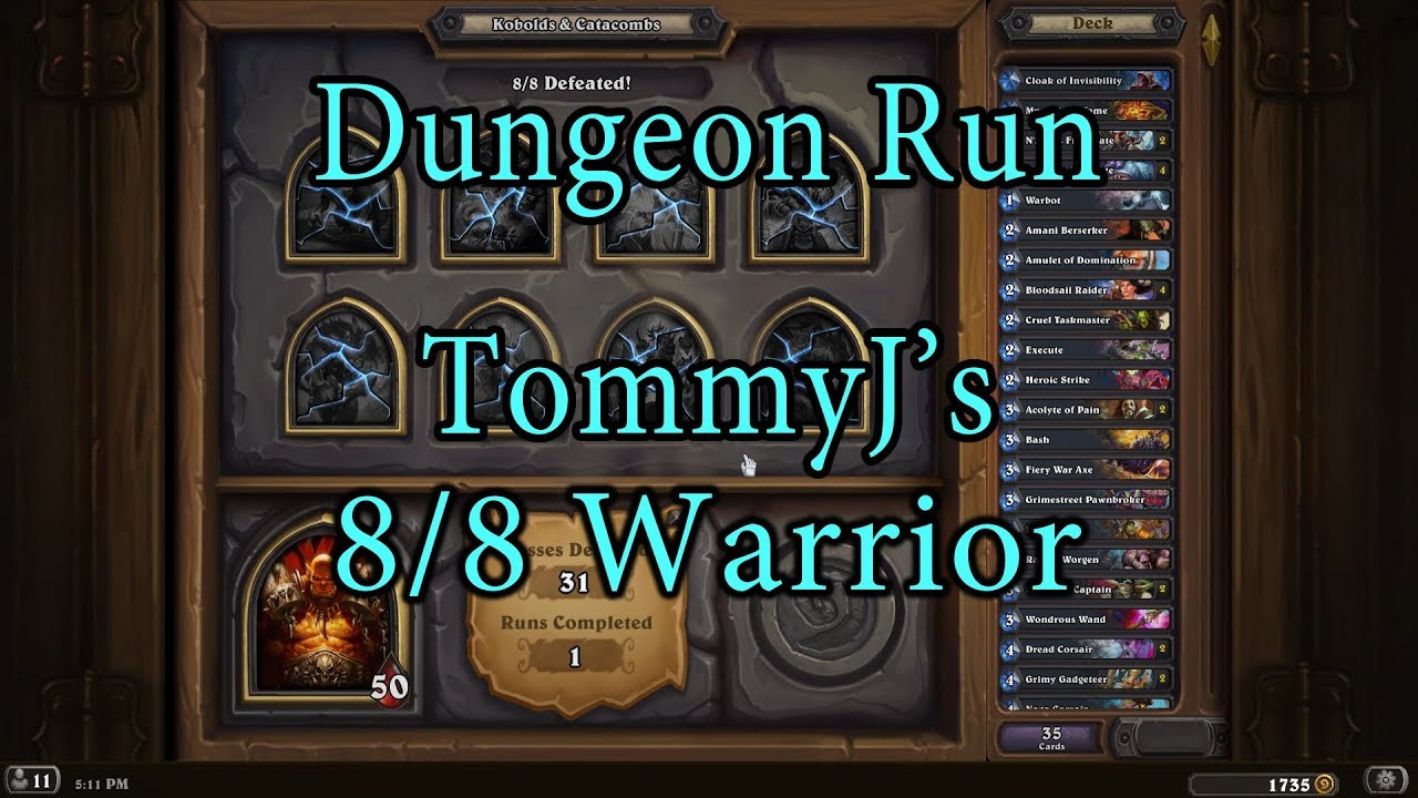 how to dungeon run with warrior
