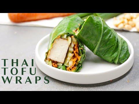 Spicy Tofu Collard Green Wraps