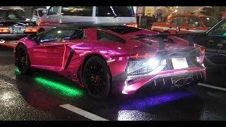 【ハロウィン】都内でランボルギーニがパレードラン Many Lamborghinis Halloween Parade in Tokyo. thumbnail