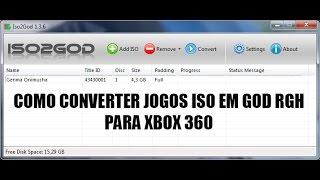 COMO CONVERTER JOGOS ISO DE XBOX 360 EM GOD RGH