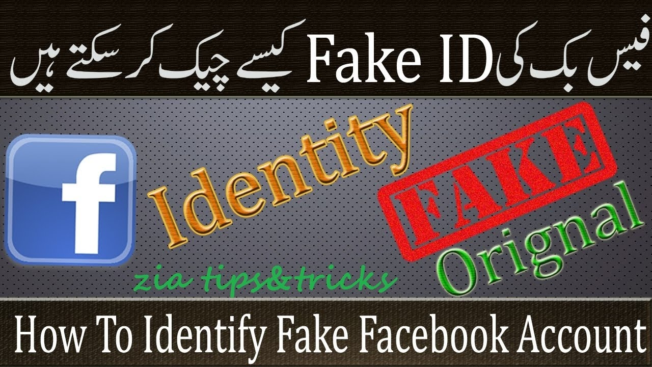 In To - Fake Facebook Youtube Profile Check How