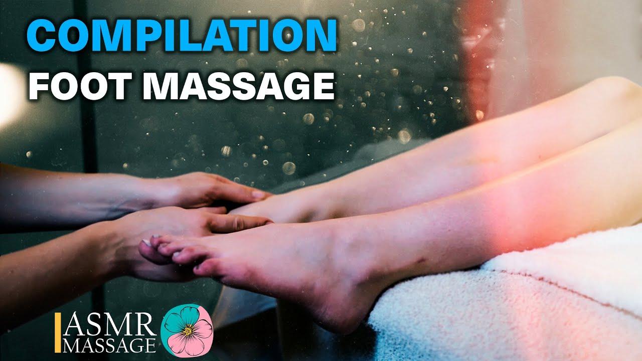 ASMR FOOT MASSAGE COLLECTION | foot, feet, legs relaxing deep tissue no talking massage