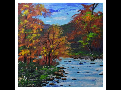 Acrylic Painting For Beginners Step By Step / Acrylic Painting For Beginners Landscape