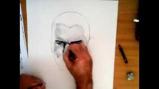 Randy Orton in pencil part 1