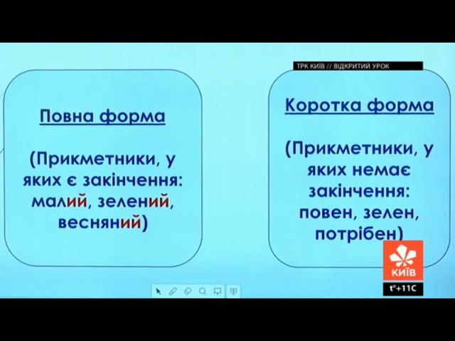 11 клас. Українська мова. Прикметник, як частина мови.