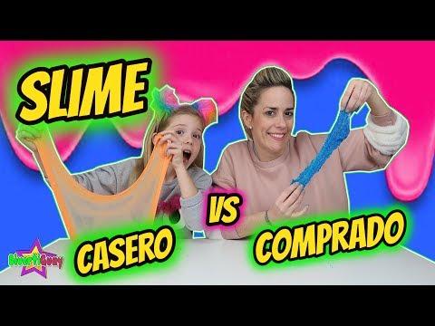 SLIME CASERO VS SLIME COMPRADO CHALLENGE ¿Cuál es el mejor Slime? Daniela DivertiGuay