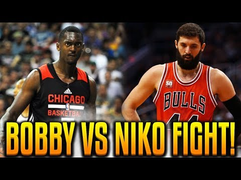 BOBBY PORTIS SENDS NIKOLA MIROTIC TO THE HOSPITAL! BULLS PRACTICE FIGHT! HAYMAKER PUNCH!