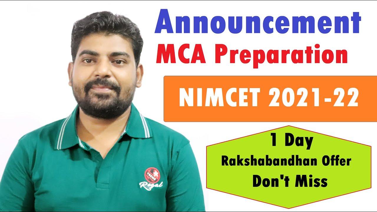 NIMCET 2021-2022 Online Preparation Plan New Batch - MCA Entrance Classes