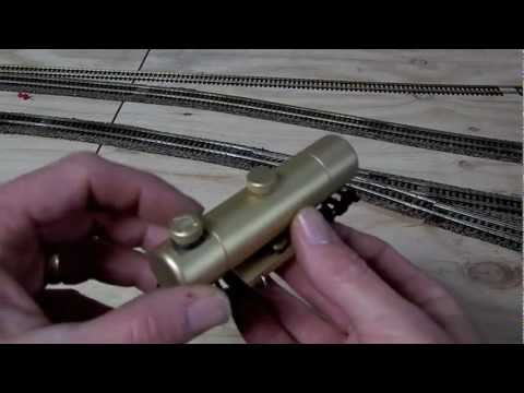 """CLEANING MODEL TRAIN TRACKS CXM MACHINE"" Model Trains Part 12"