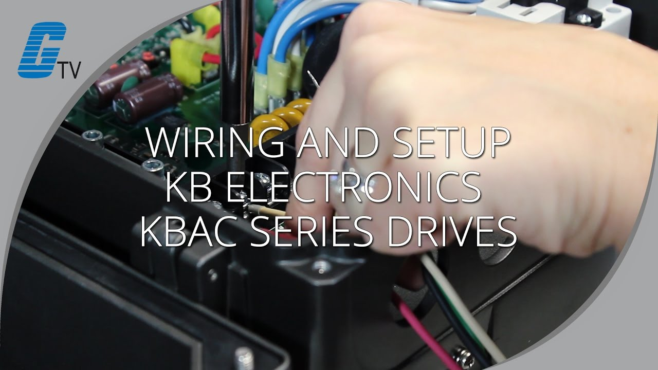 How To Wire And Setup Kb Electronics Kbac Series Drives Youtube. How To Wire And Setup Kb Electronics Kbac Series Drives. Wiring. 150 Hp Dc Drive Wiring Diagram At Scoala.co