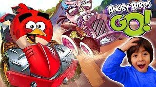 ANGRY BIRDS GO!! Gameplay CARRERAS DE COCHES con GORRINETES!! Juegos y aplicaciones para niños