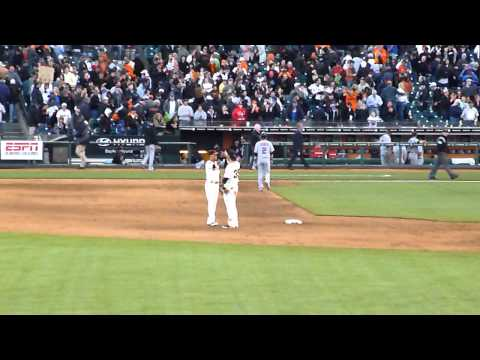 Brandon Crawford - Manny Burris Victory Handshake/High-Five
