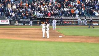 Brandon Crawford - Manny Burris Victory Handshake/High-Five