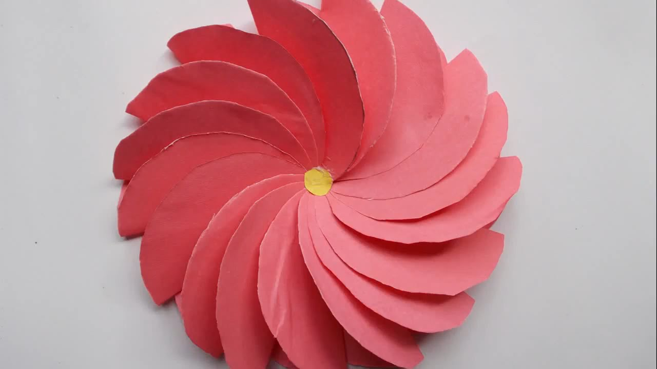 How To Make Paper fFowers backdrop | make paper flowers easy step ... for How To Make Paper Craft Flowers Step By Step  54lyp