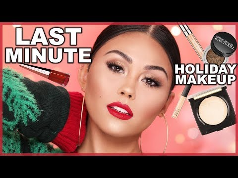 LAST MINUTE CHRISTMAS MAKEUP