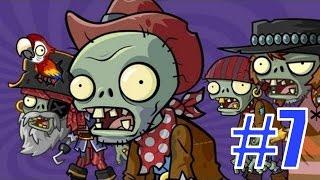 Plants vs Zombies 2 - Пиратские Моря: 1-8 Уровни - Русское прохождение
